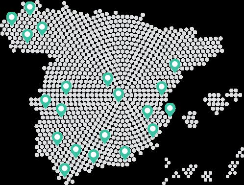 Presentes en más de 20 provincias en España
