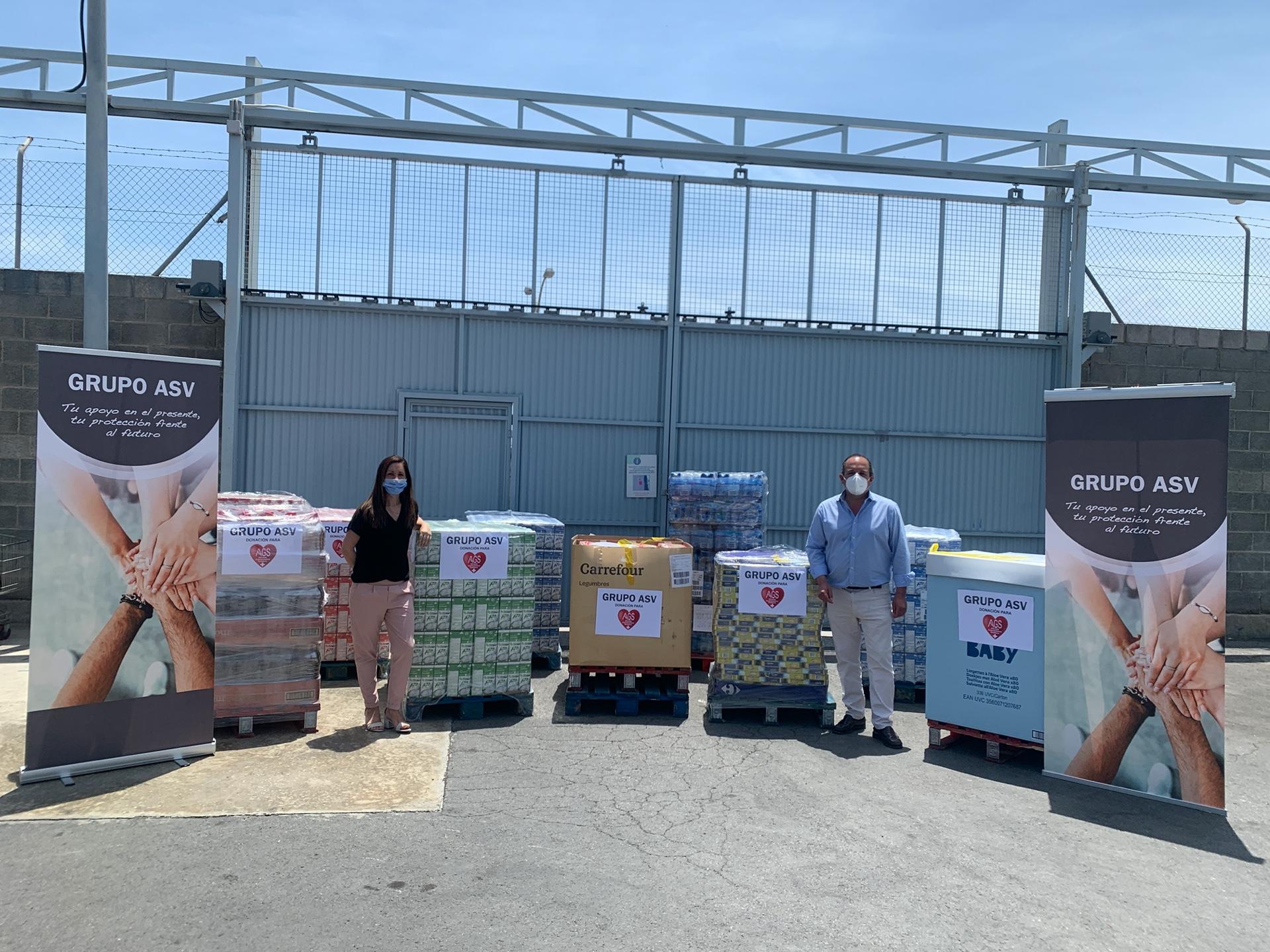 GRUPO ASV Dona 16 toneladas de alimentos a comedores sociales y bancos de alimentos